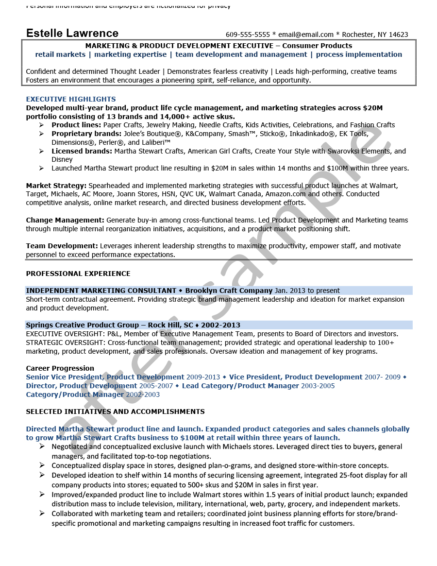 Résumé Samples - Chesepeake Career Management Services